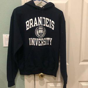 Brandeis University Navy Blue Champion Hoodie